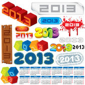 Year 2013 Vector — Stock Vector