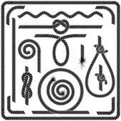 Vector Rope Design Elements — Stock Vector