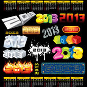 Year 2013 Vector — Vector de stock