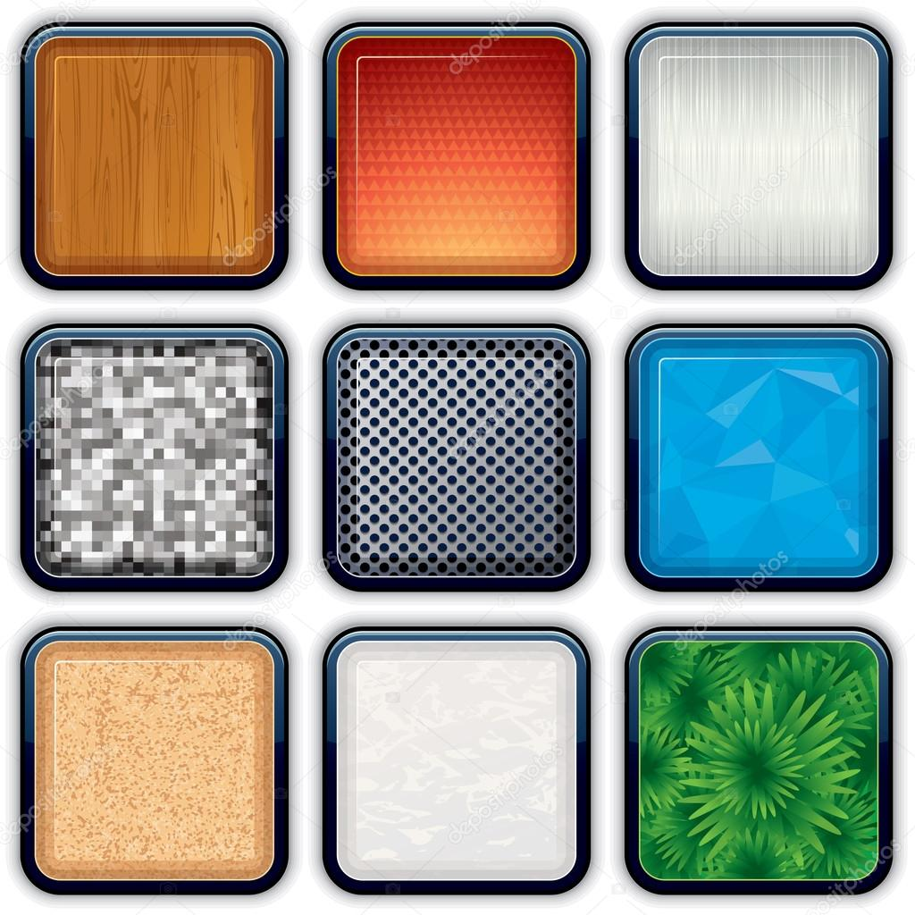 Background for the Apps Icons. Vector Texture Set 2 — Stock Vector #13589802