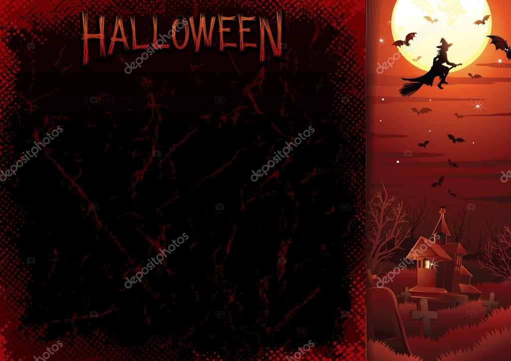 Halloweens Poster Template. Vector Illustration — Stock Vector #13589889
