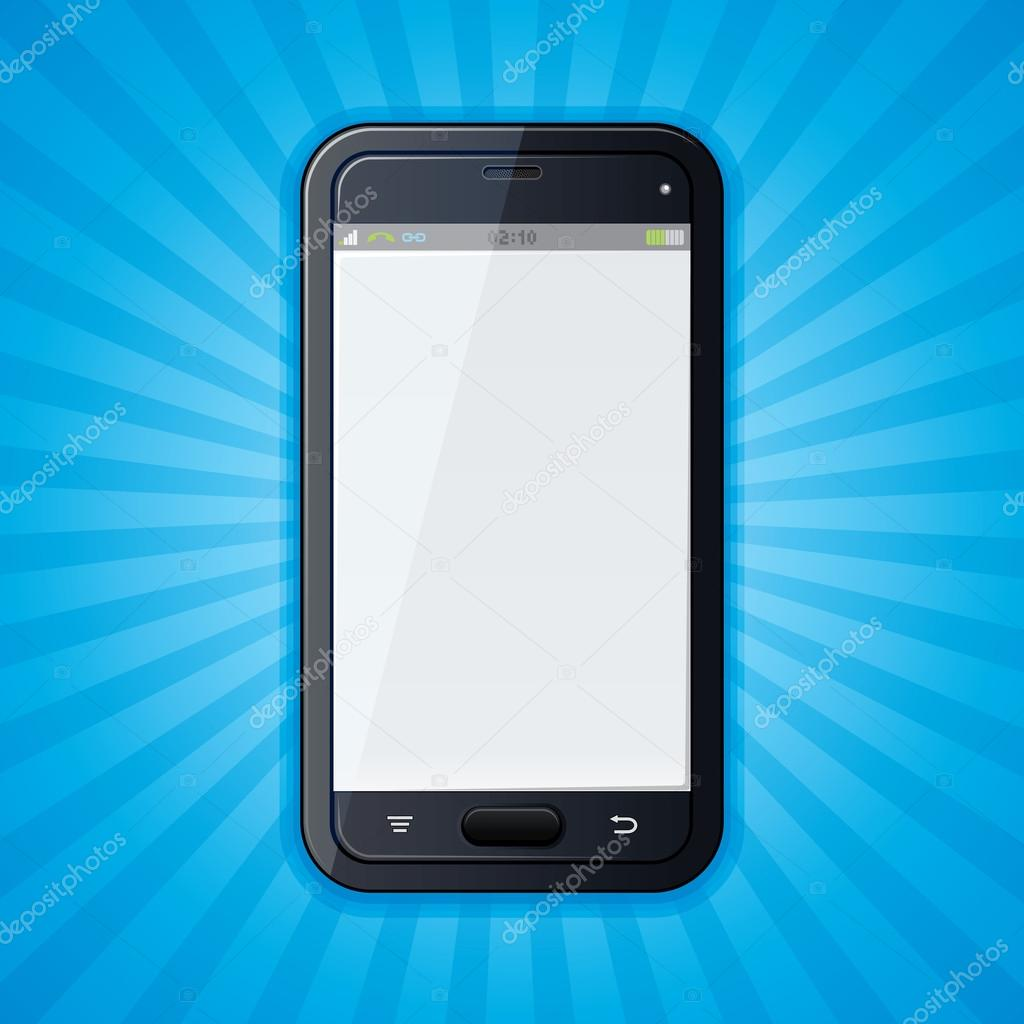 Retro Background with Smartphone — Stock Vector #13589920