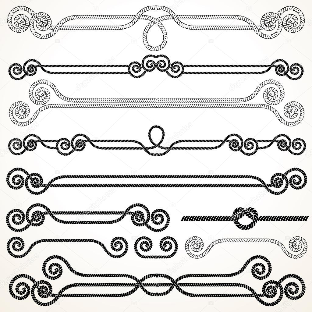 Rope Ornaments. Decorative Vector Design Elements. — Stock Vector #13589928