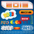 2013 Year Inscriptions Design - Stock Vector