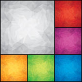 Set of Colored Paper Backgrounds — Stock Vector