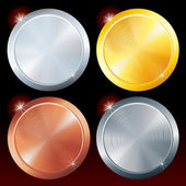 Round Vector Plates — Stock Vector