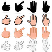 Stylized Vector Hands — Stok Vektör