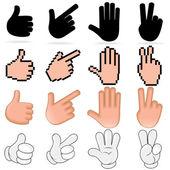 Stylizované vektorové ruce — Stock vektor
