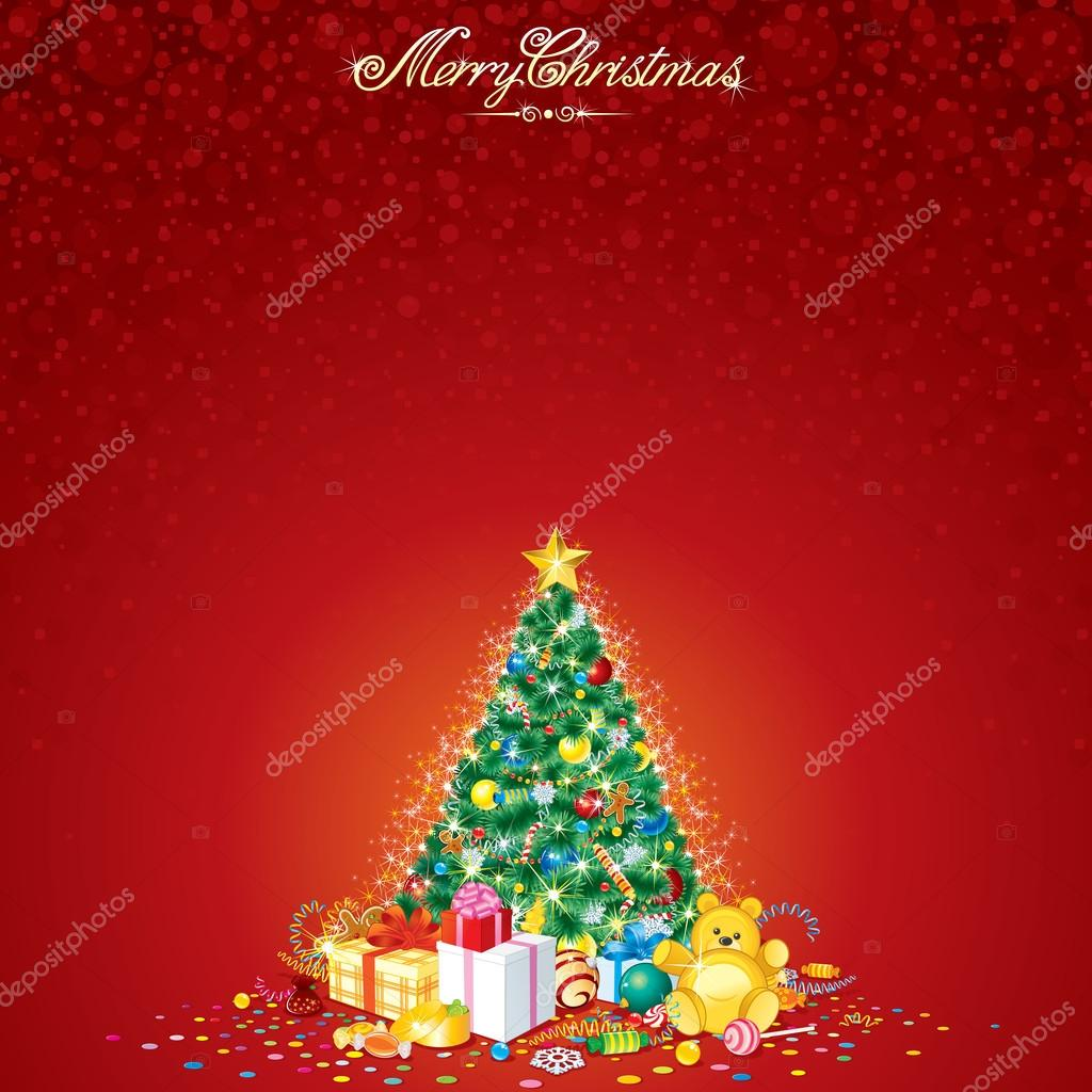 Christmas Tree. Vector Card  Stock Vector #14099815