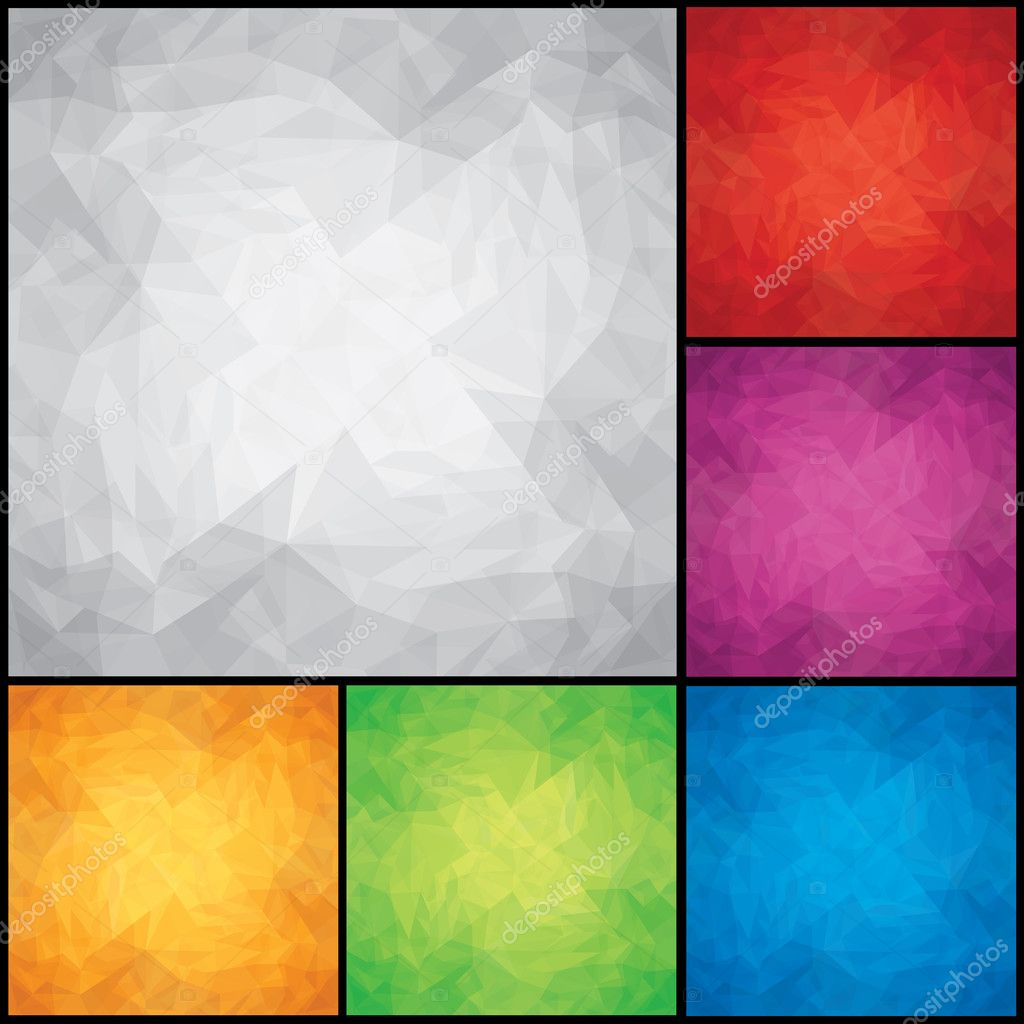 Download - Set of Colored Paper Backgrounds — Stock Illustration ...