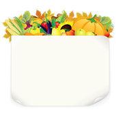 Thanksgiving Rich Harvest — Stock Vector