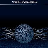 Vector Technology Concept — Stock Vector