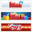 Stock Vector: Christmas Sale Web Banners