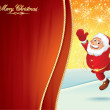 Santa Cartoon Vector — Stock Vector