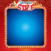 Christmas Sale Background Template — Stock Vector