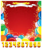 Birthday Greeting Card Template — Stock Vector