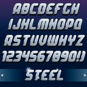 3D Metal Font — Stock Vector