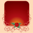 Frame with Rose Brach. Ready for Your Text - Stock Vector