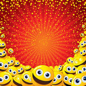 Joyful Smiley Background. Vector Image with free space for text — Stock Vector
