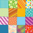 Quilt Patchwork Texture. Seamless Vector Pattern - Stock Vector