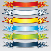 Set of Colorful Ribbons and Banners. Vector Image — Stock Vector