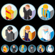 Occupation Icons. Isometric Vector Graphics — Stock Vector