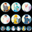Occupation Icons. Isometric Vector Images - Stock Vector