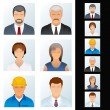 Icon. Avatars of Various Occupations — Image vectorielle
