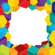 Colorful Border from Cubes — Imagen vectorial