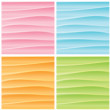 Set of Abstract Wavy Backgrounds. Vector Graphics — Vettoriali Stock