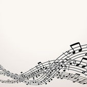 Musical Background. Vector Image with Free Space — 图库矢量图片