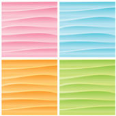 Set of Abstract Wavy Backgrounds. Vector Graphics — Stock Vector