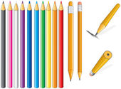 Pencil set. Vector Clip Art — Stock Vector