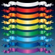 Shiny Ribbon Banners. Multicolored Vector Set — Stockvectorbeeld