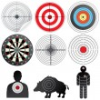 Set of Vector Targets and Dummies. — Stock Vector