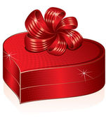 Heart Shaped Gift Box. Vector Picture — Stock Vector