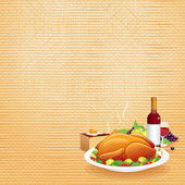 Thanksgiving Dinner — Stock Vector