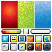 Funky Phone Set. Vector Graphics — Stock Vector