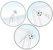 Scoring a Goal. Football Vector Images — Stock Vector