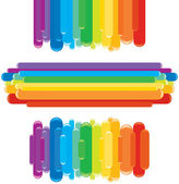 Rainbow Design Elements. Vector Graphics — Stock Vector