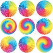 Raibow Color Wheels. Vector Design Elements -  