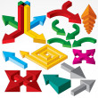 Set of Isometric Arrows and Design Elements. Vector — Stock Vector