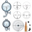 sniper scope, target, crosshair. vector clip art — Stock Vector