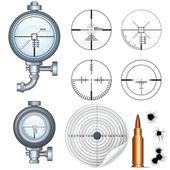 Portée de tireur d'élite, cible, en forme de croix. vector clipart — Vecteur