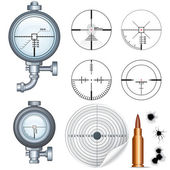 Sniper Scope, Target, Crosshair. Vector Clip Art — Vecteur