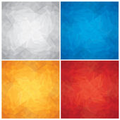 Set of Crumpled, Colored Paper Textures. Vector — Stock Vector