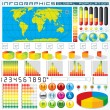 Infographics Design Elements. Vector Graphics — Stok Vektör