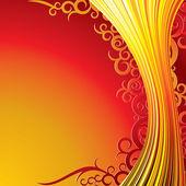 Decorative Ornate Background. Vector Background — Stock Vector
