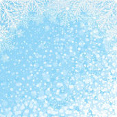 Snowflakes Backdrop Vector — Stock Vector