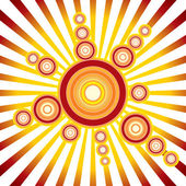 Retro Sun. Vector Background — Stock Vector